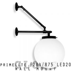 Wall Mount Globe #284-875 LED20