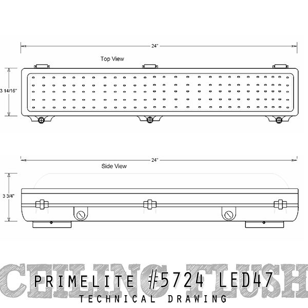 technical drawing ceiling flush #5724 LED47