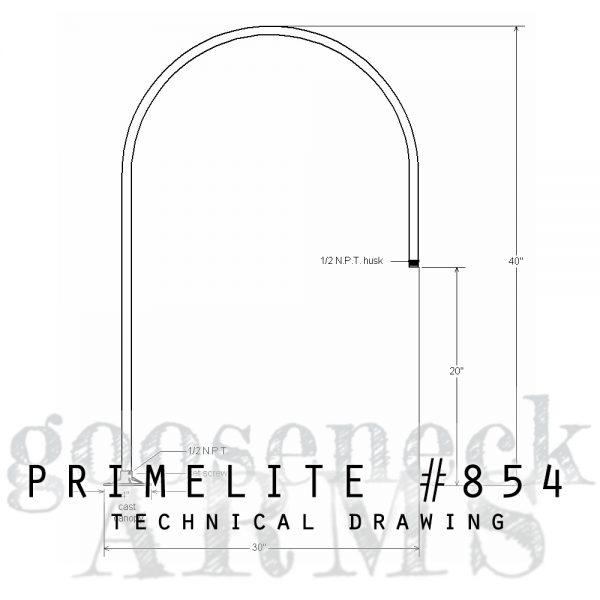technical drawing gooseneck arm #854