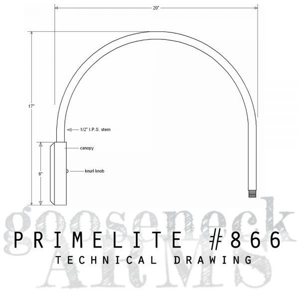 Technical drawing Gooseneck Arm #866