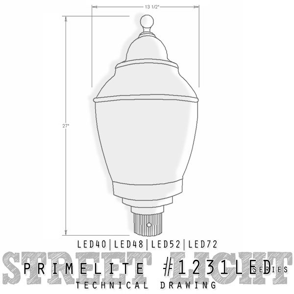 Technical Drawing #1231 LED series