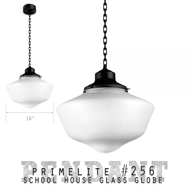 Primelite School House Globe Pendant #256