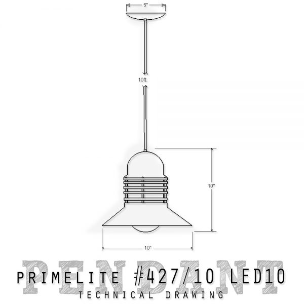 technical drawing #427/10 LED10