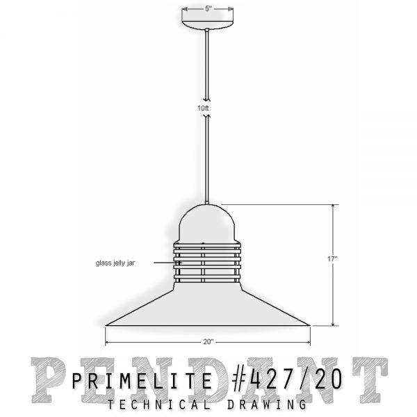 technical Drawing Pendant #427/20