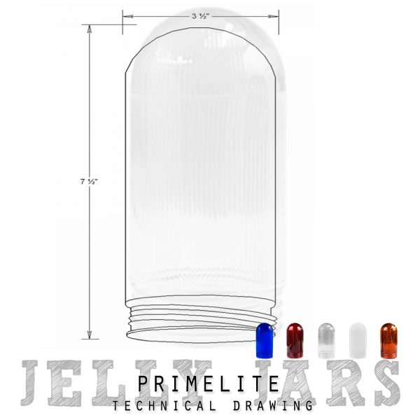 technical drawing jelly jars