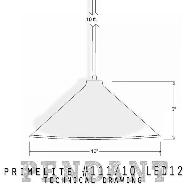 technical drawing Pendant #111/10 LED12