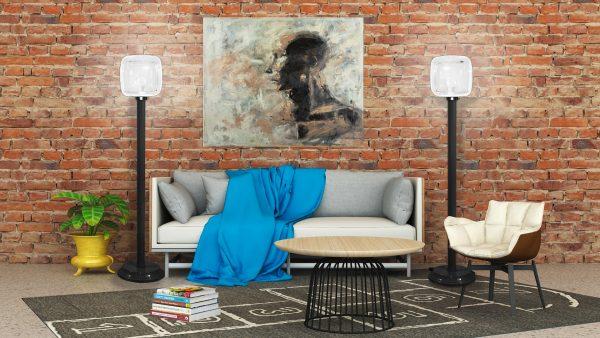 Floor Lamp w/ cube globe #231/150-4