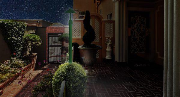 post light #12/10-1594 in the garden
