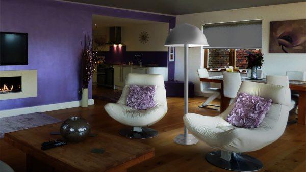 Living room w/ floor lamp #231/39-19